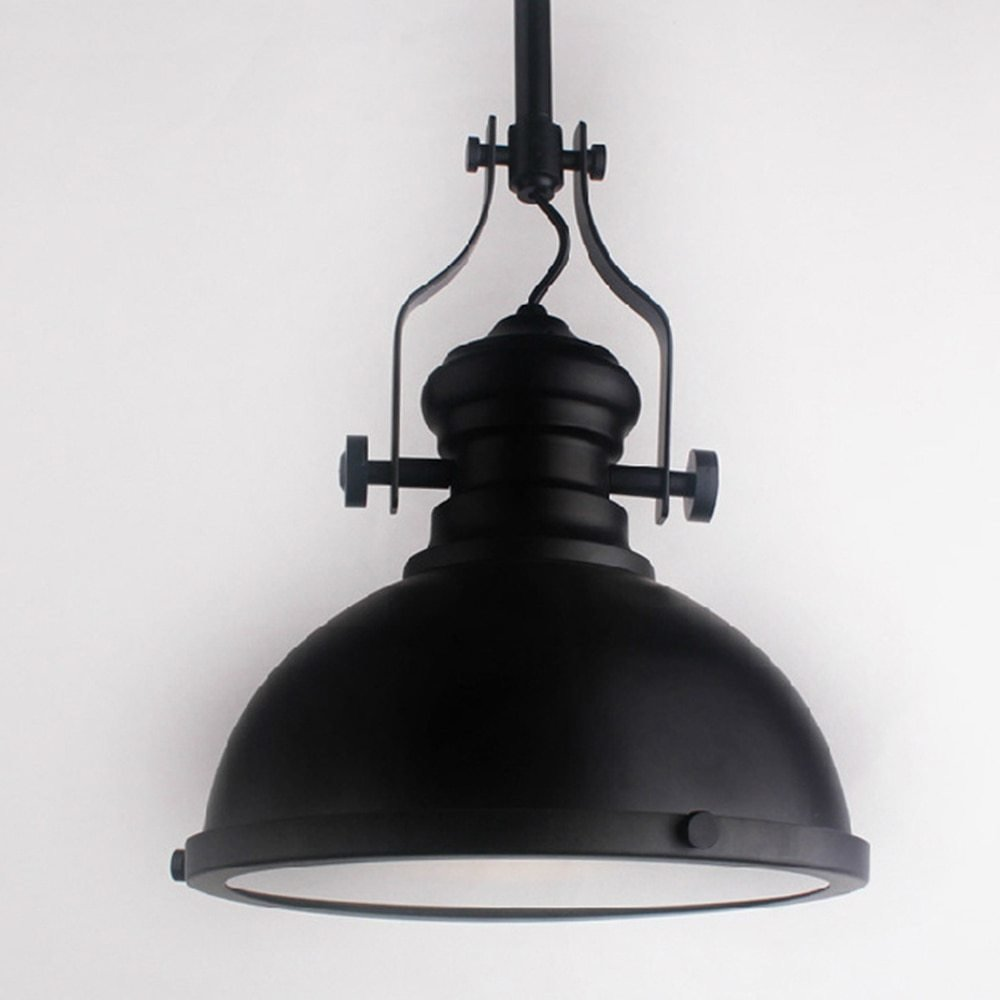 Best Black Metal Vintage Industrial Mining Metal Pendant Lights Black Color Searchlight Pendant Lamp With Pictures