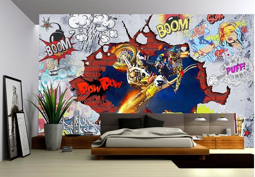 Best Custom Photo 3D Wallpaper Non Woven Mural Wall Sticker With Pictures