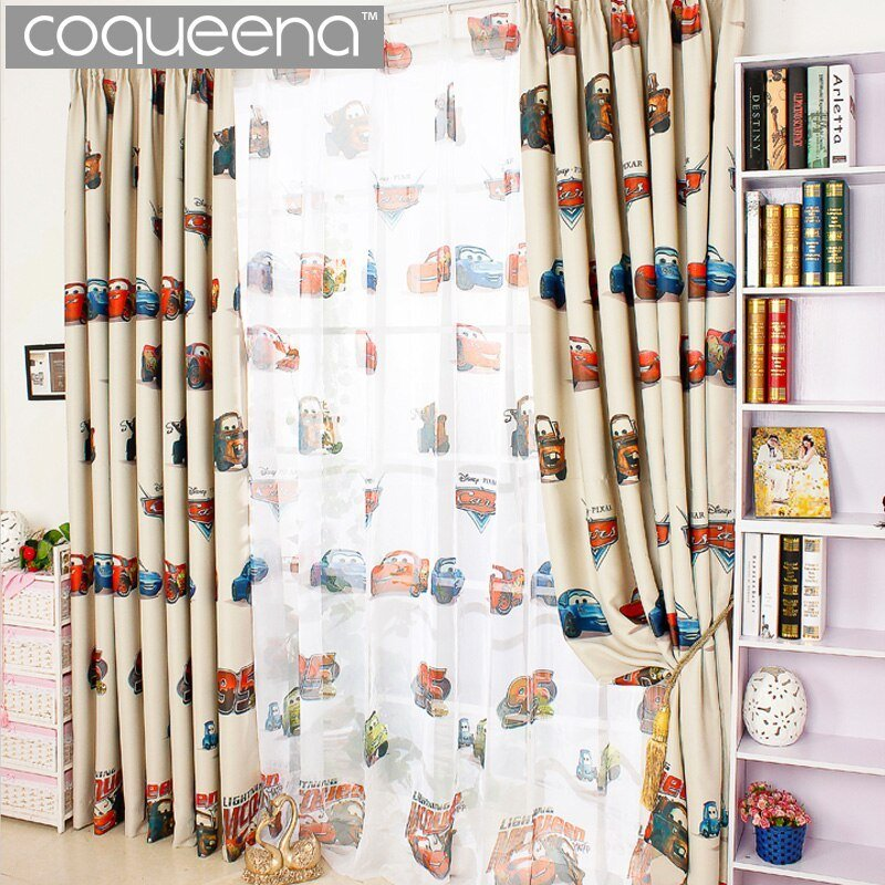 Best Cartoon Car Curtains For Living Room Boys Bedroom Kids With Pictures