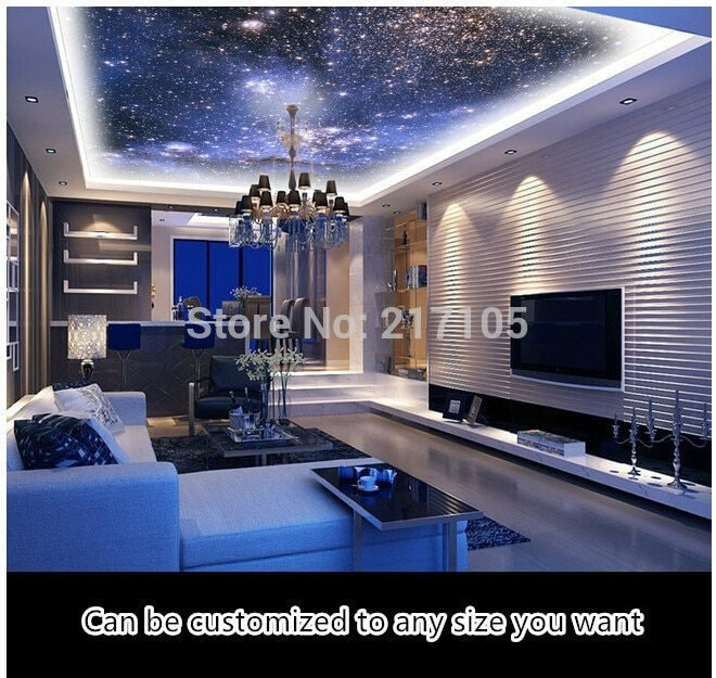 Best Custom Fantasy Night Sky Wallpaper For Living Room With Pictures
