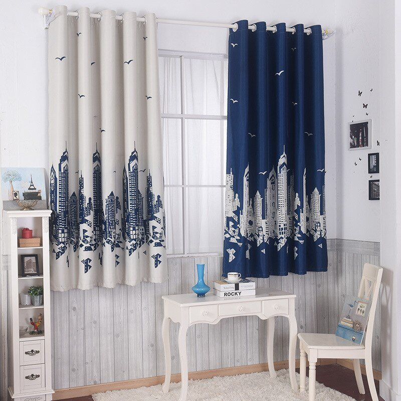 Best Cotton Spandex Printing Customized Short Curtain 2 Colors With Pictures