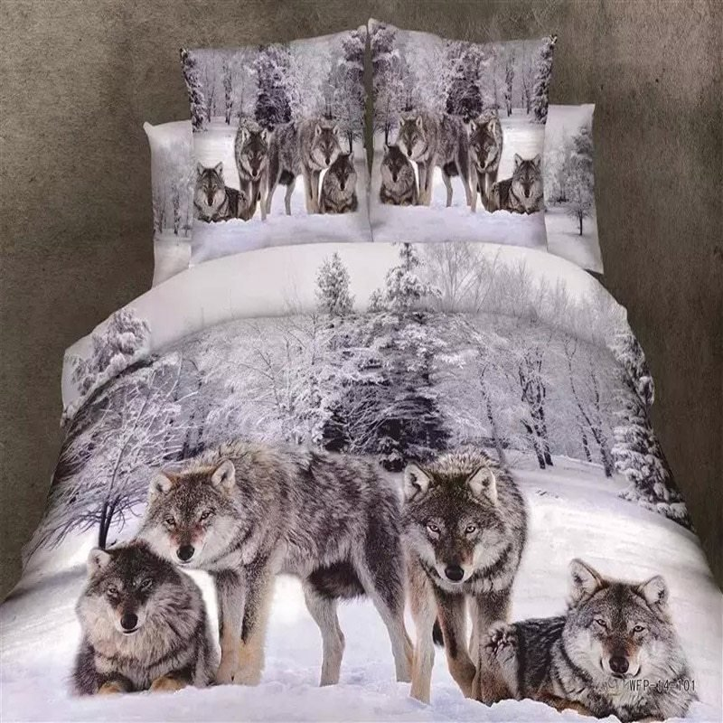Best Popular Wolf Bedding Sets Buy Cheap Wolf Bedding Sets Lots With Pictures