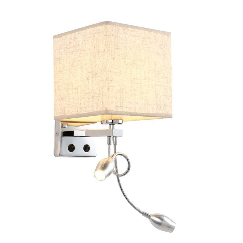 Best Led Bedside Wall Light With Switch Flexible Reading Light With Pictures