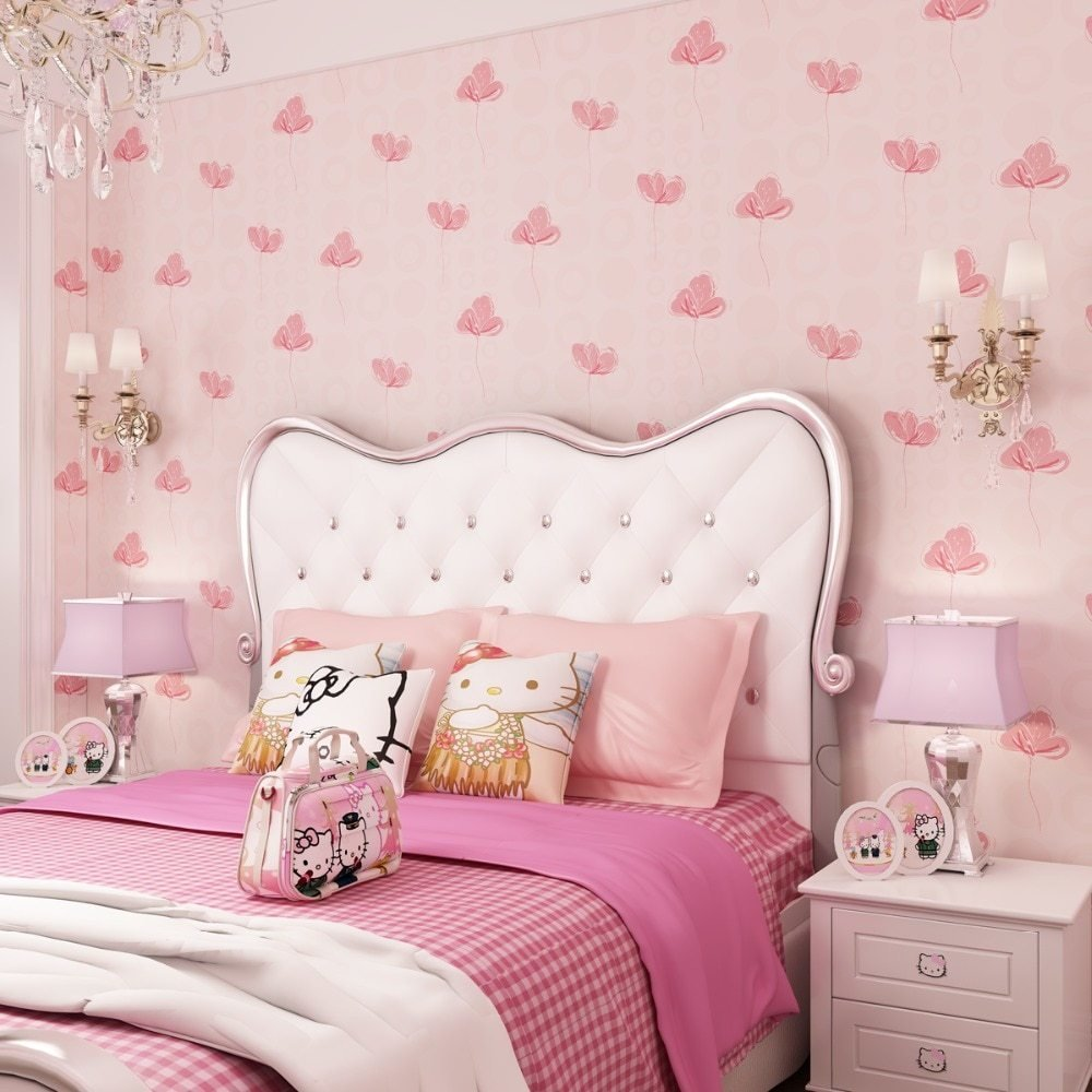 Best Kids Room Wallpapers Girls Bedroom Nonwovens Warm Korean With Pictures
