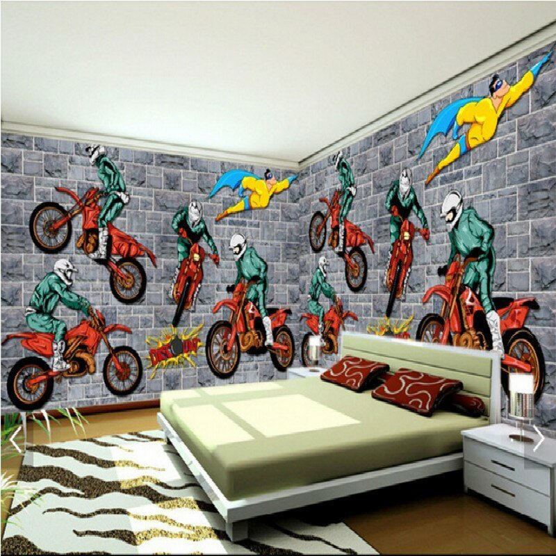 Best Creative Motocross Sports A Large Mural 3D Wallpaper With Pictures