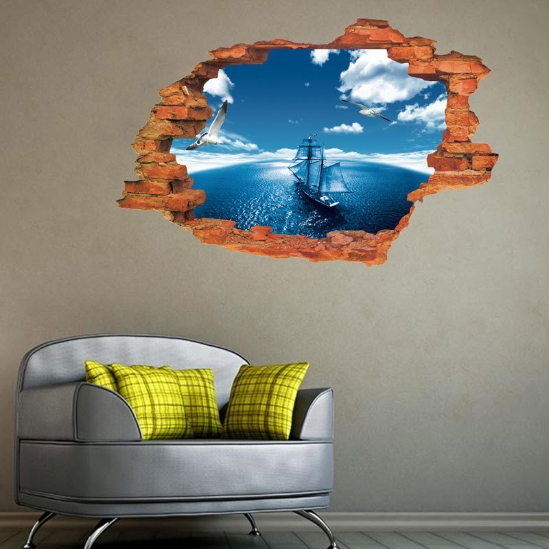 Best Blue Sky Child Room Wall Stickers For Kids Room Boy With Pictures