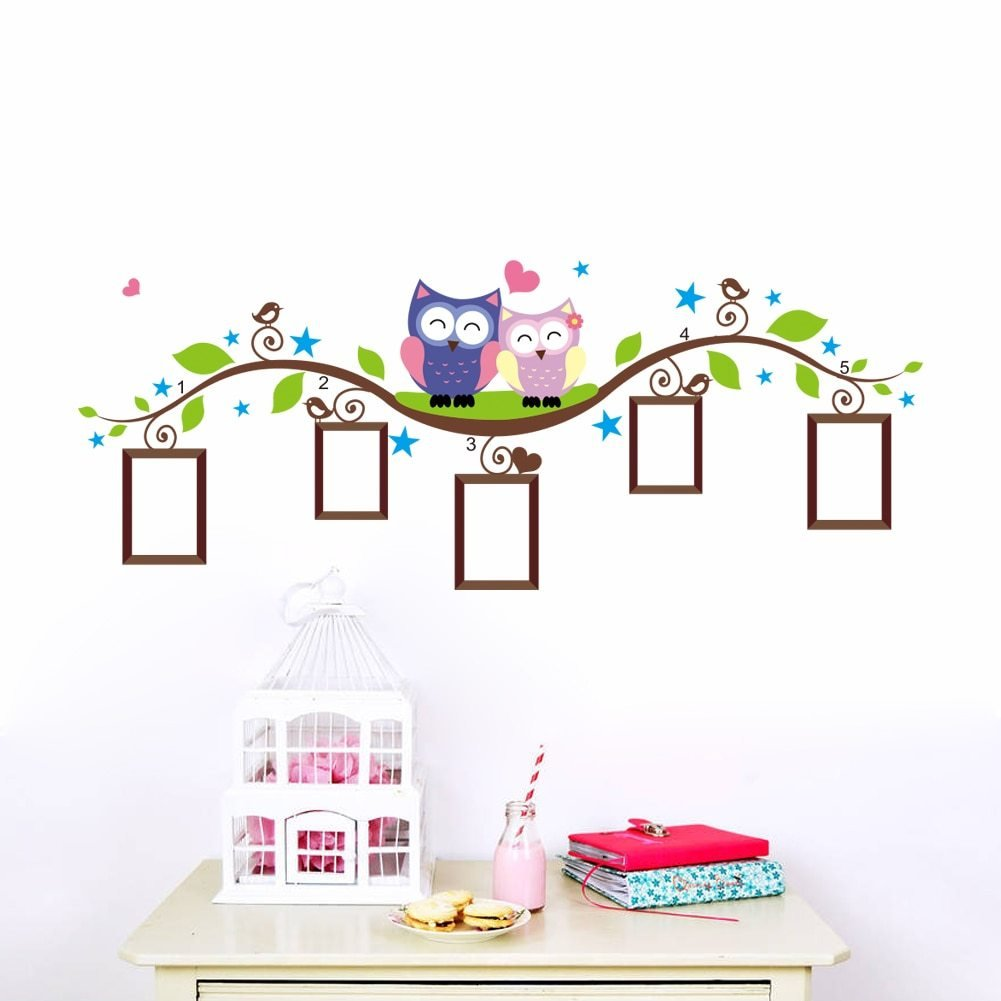 Best Owl Wall Stickers For Kids Room Decorations Animal Decals Bedroom Nursery Removable Tree Wall With Pictures