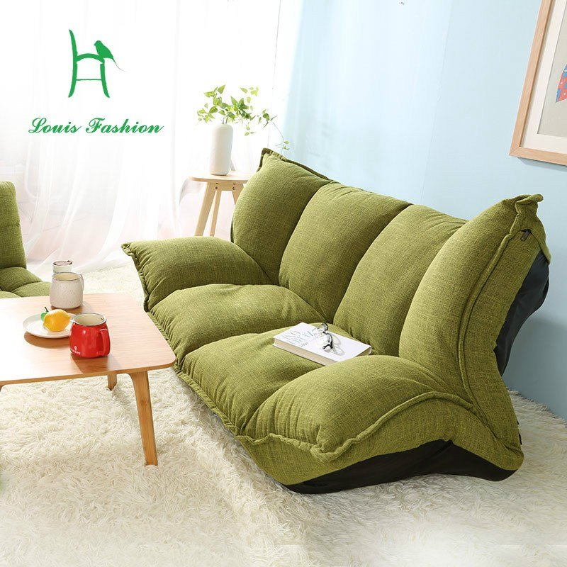 Best Wood And Lazy Sofa Bed Japanese Tatami Sofa Simple Bedroom Folding Cloth Leisure Small Sofa In With Pictures