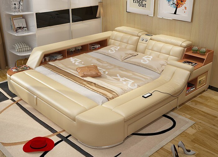 Best 2018 Hot Sale New Moveis Para Quarto Modern Bedroom Set Modern Bedroom Furniture Massage Soft With Pictures
