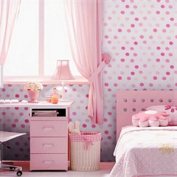 Best Vinyl Self Adhesive Wallpaper Cute Dots Bedroom Background With Pictures