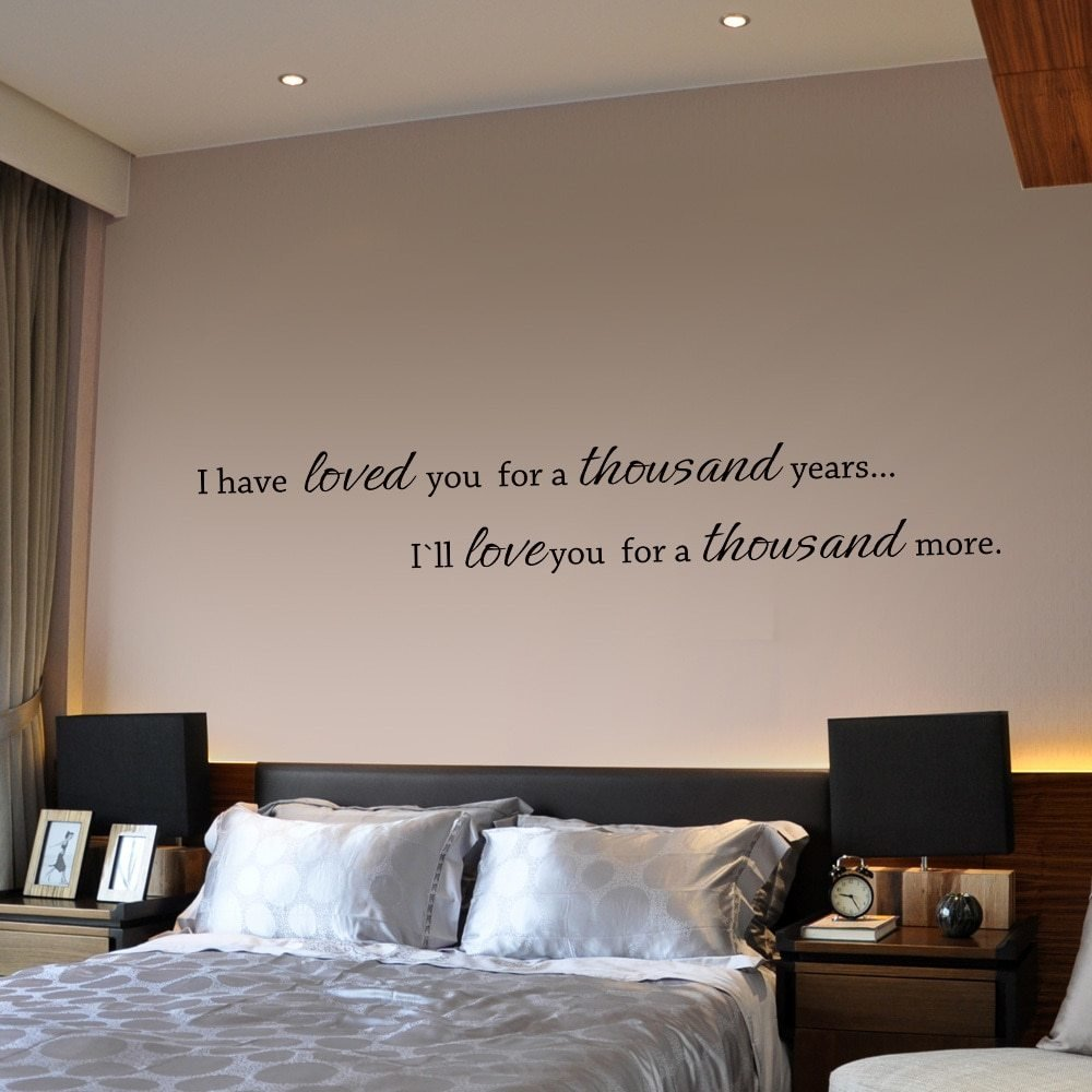 Best I Have Loved You A Thousand Years Couple Bedroom Wall With Pictures