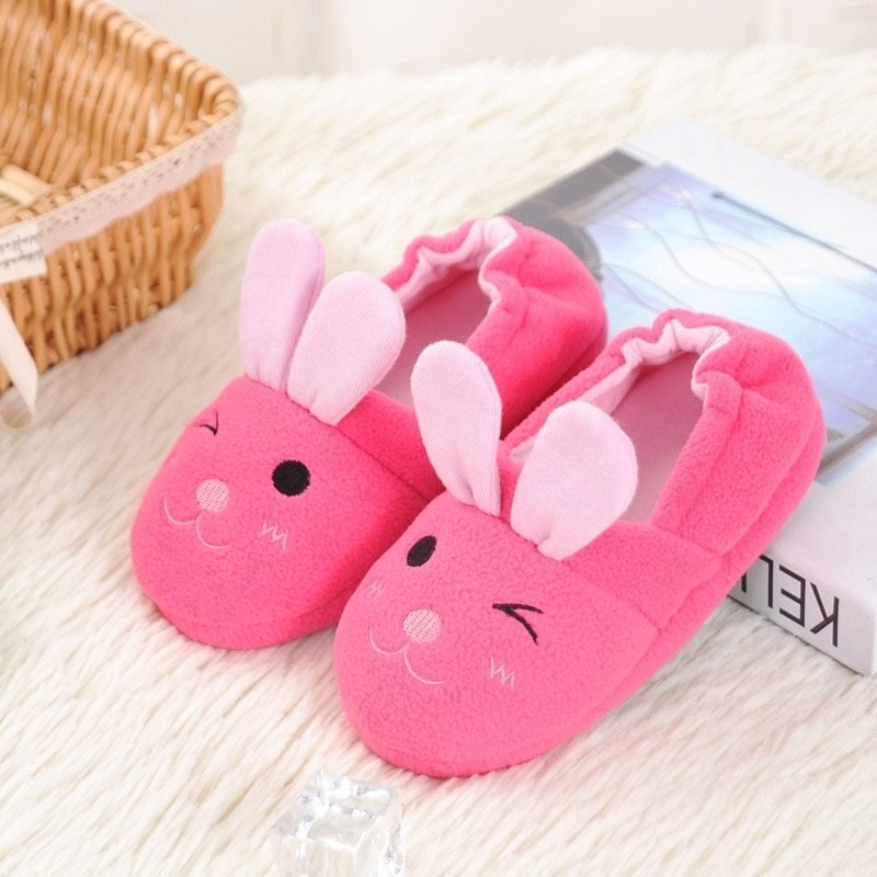 Best Cute Rabbit Animal Pattern Kids Slippers Home Slippers With Pictures