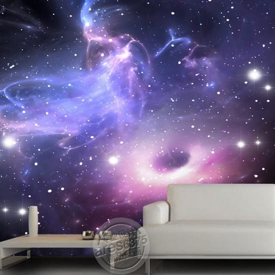 Best Free Shipping Ktv Bar Large Mural Wallpaper Universe Stars With Pictures