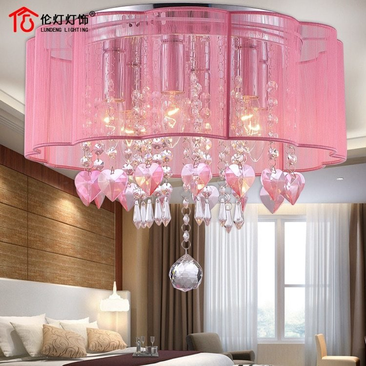 Best Crystal Ceiling Pink Warm Interior Lighting Led Lighting With Pictures