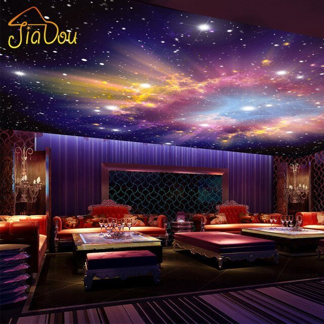 Best Custom Murals 3D Star Nebula Night Sky Wall Painting With Pictures