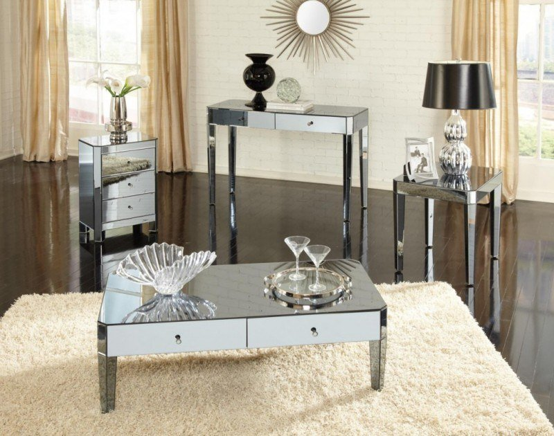 Best 20 Beautiful Living Rooms With Mirrored Furniture With Pictures