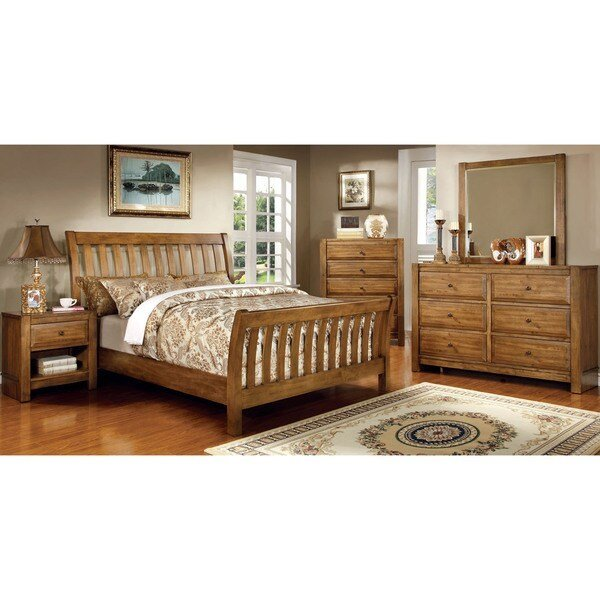 Best Furniture Of America Dimare Country Style 4 Piece Rustic With Pictures