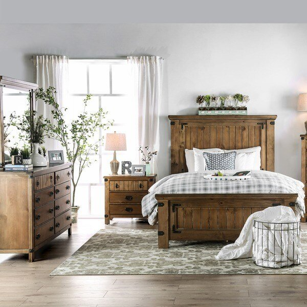 Best Furniture Of America Sierren Country Style 4 Piece Bedroom With Pictures