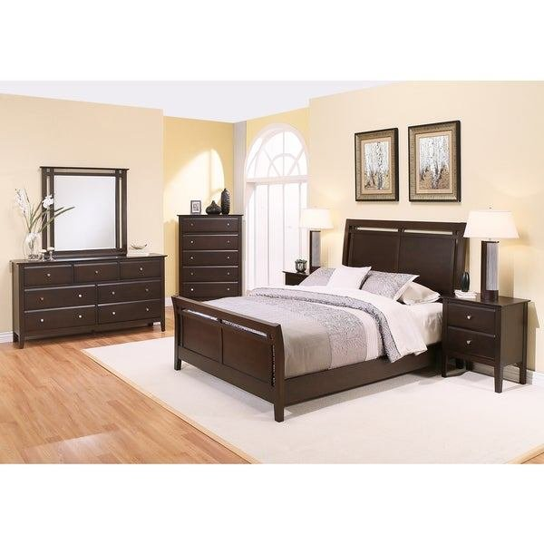 Best Shop Abbyson Marsala 6 Piece Bedroom Set Free Shipping With Pictures