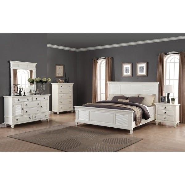 Best Shop Regitina White 5 Piece Queen Size Bedroom Furniture With Pictures