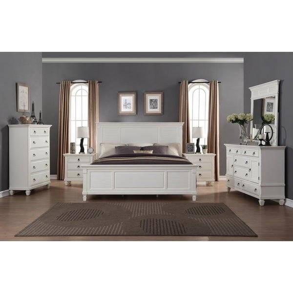 Best Shop Regitina White 6 Piece King Size Bedroom Furniture With Pictures