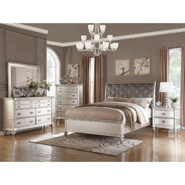 Best Saveria 4 Piece Bedroom Set Free Shipping Today Overstock Com 19671927 With Pictures