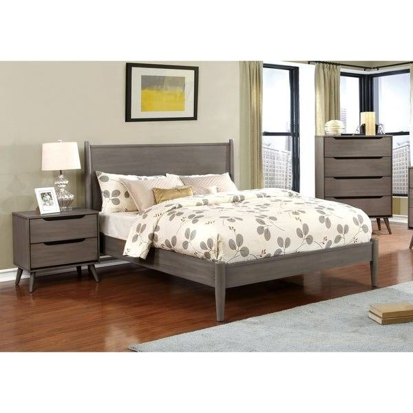 Best Shop Carson Carrington Bodo Grey 3 Piece Mid Century Modern Bedroom Set On Sale Free With Pictures