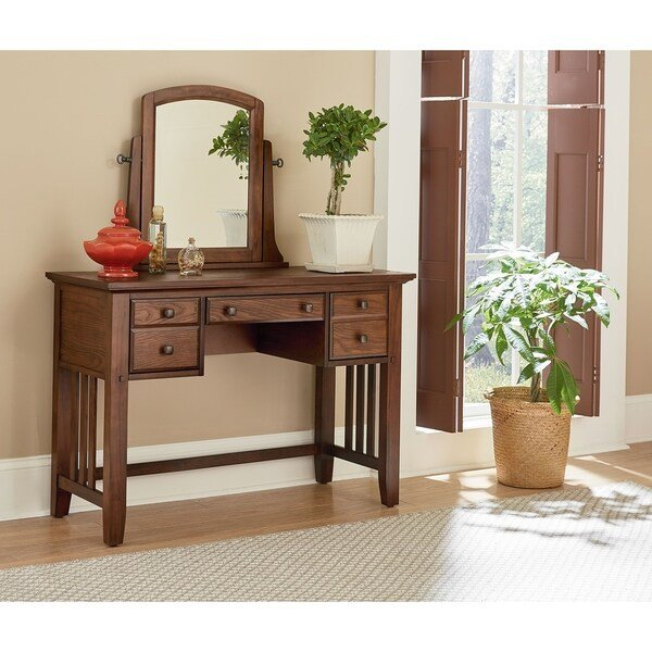 Best Shop Osp Home Furnishings Modern Mission Bedroom Vanity With Pictures