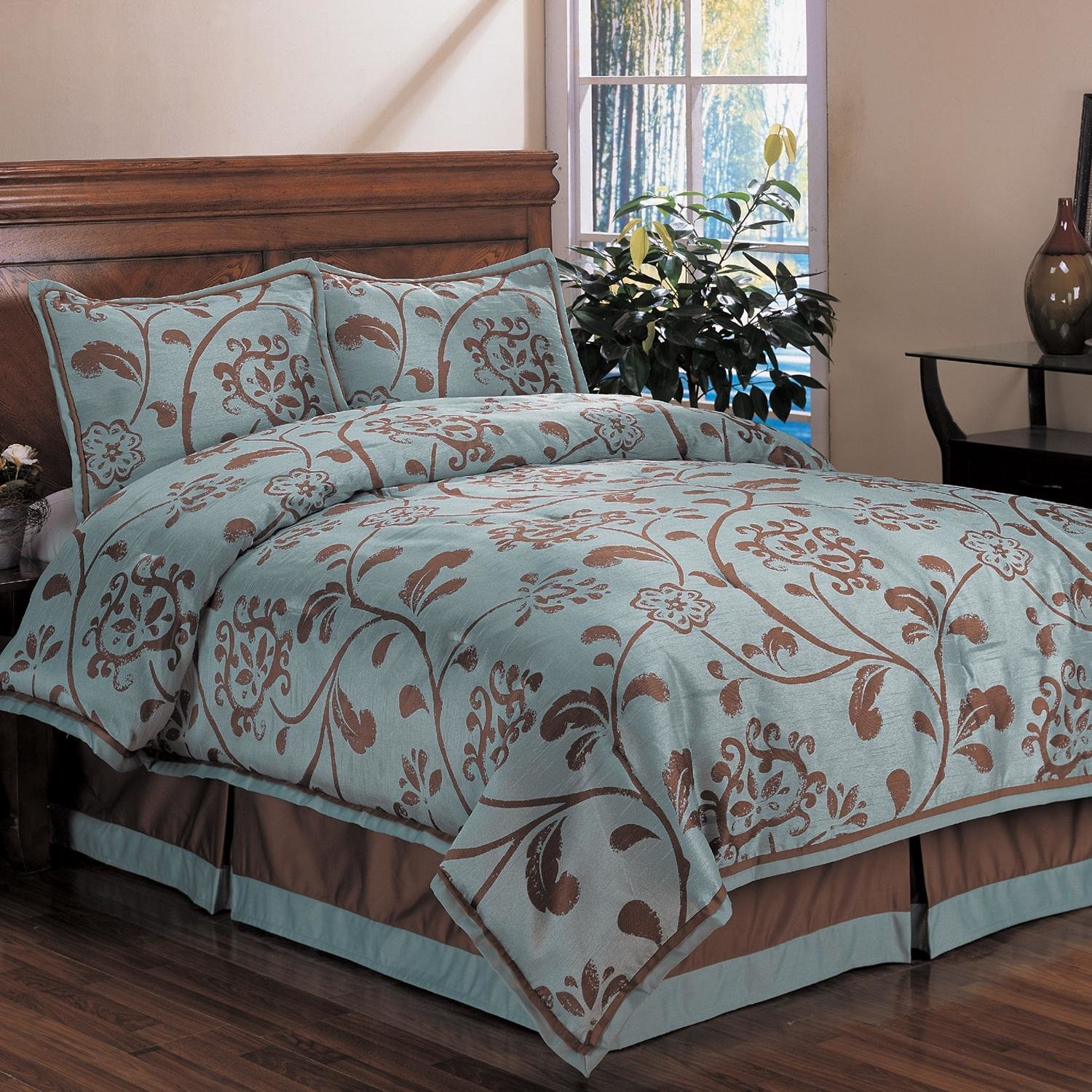 Best Shop Bella Floral Queen Size 4 Piece Comforter Set Free With Pictures