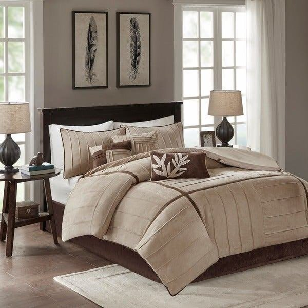 Best Shop Madison Park Dune Beige Brown 7 Piece Contemporary With Pictures