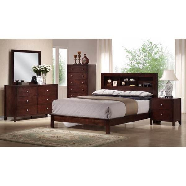Best Shop Montana King 5 Piece Mahogany Brown Wood Modern Bedroom Set Free Shipping Today With Pictures
