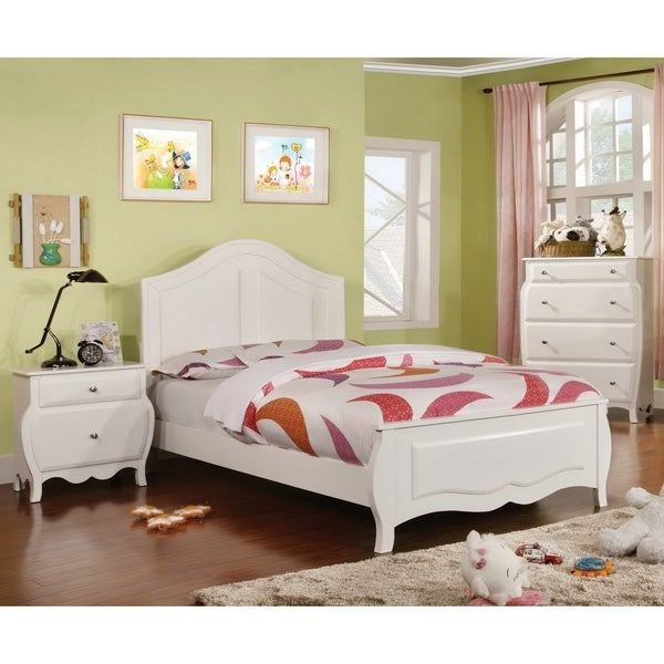 Best Shop Furniture Of America Young Olivia White Solid Wood 3 With Pictures