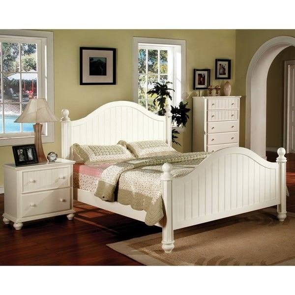Best Shop Furniture Of America River Stream White Cottage Style 2 Piece Bedroom Set Free Shipping With Pictures