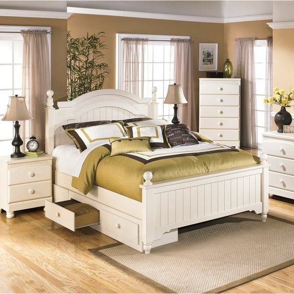 Best Shop Ashley Cottage Retreat Cream Poster Bed Set With With Pictures