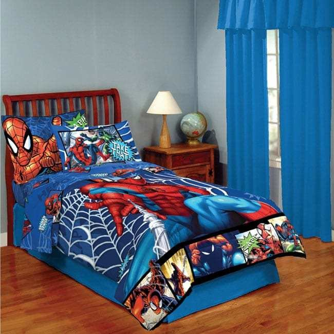 Best Spider Man 4 Piece Twin Size Bed In A Bag With Sheet Set With Pictures
