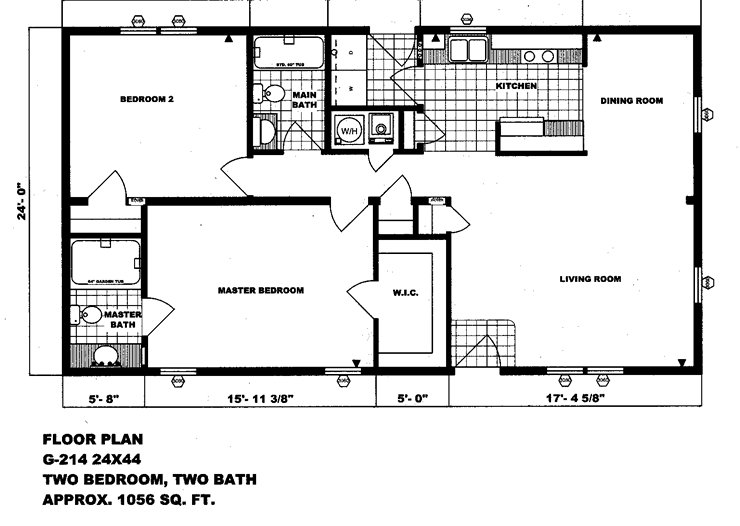 Best Mobile Home Plans Double Wide Floor Bestofhouse Net 34506 With Pictures