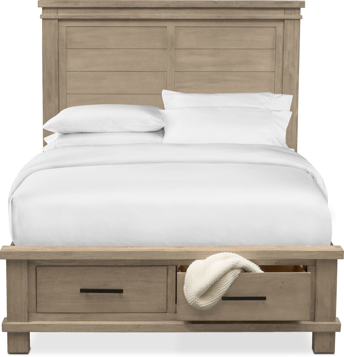 Best Tribeca Queen Storage Bed W 2 Underbed Drawers Gray With Pictures