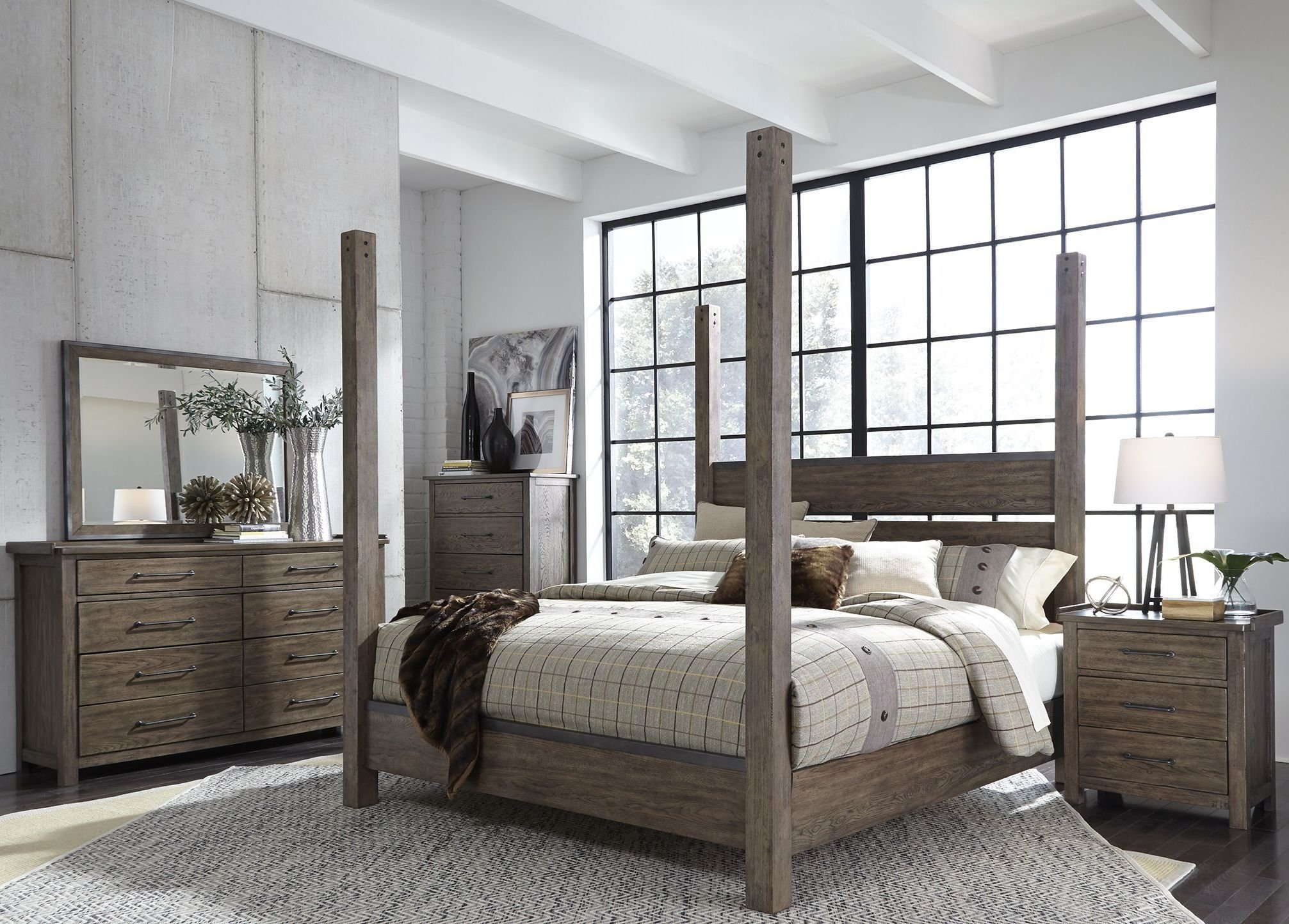 Best Sonoma Road Beaten Bark Poster Bedroom Set 1Stopbedrooms With Pictures