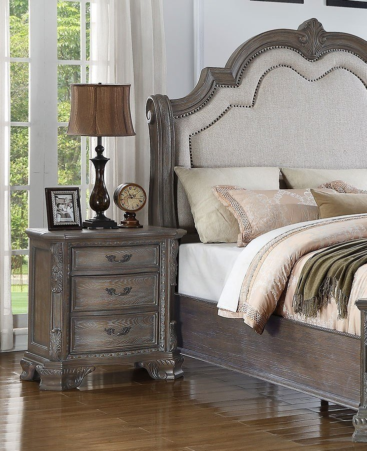 Best Sheffield Panel Bedroom Set Antique Grey 1Stopbedrooms With Pictures