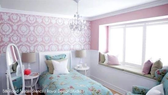 Best Stencil And Pattern Ideas For Girl S Bedrooms With Pictures