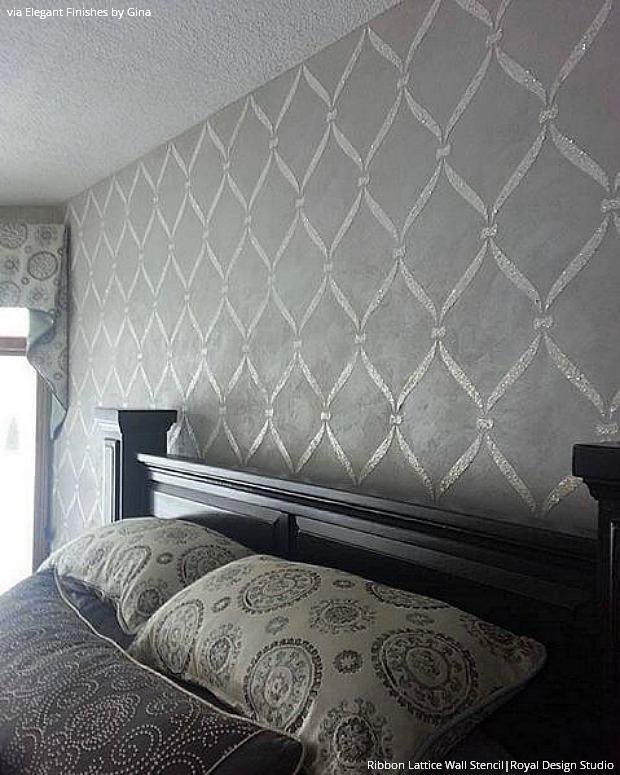 Best Wall Stencils Ideas For Dreamy Romantic Bedroom Decor With Pictures