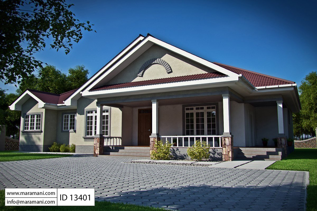 Best 3 Bedroom Bungalow House Plan Id 13401 House Plans By Maramani With Pictures