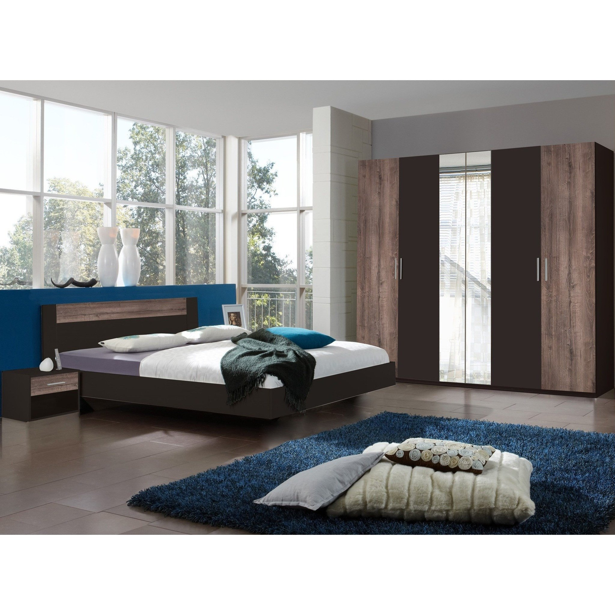 Best Qmax Liana Range German Made Bedroom Furniture Lava Muddy Oak Fi – Freedom Homestore With Pictures