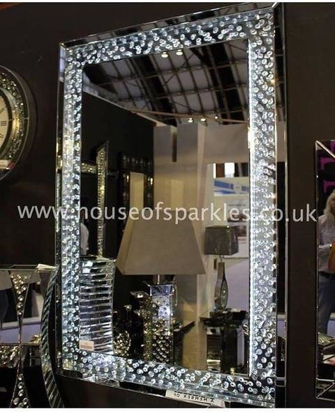 Best Pre Order Floating Crystal Led Wall Mirror – House Of With Pictures