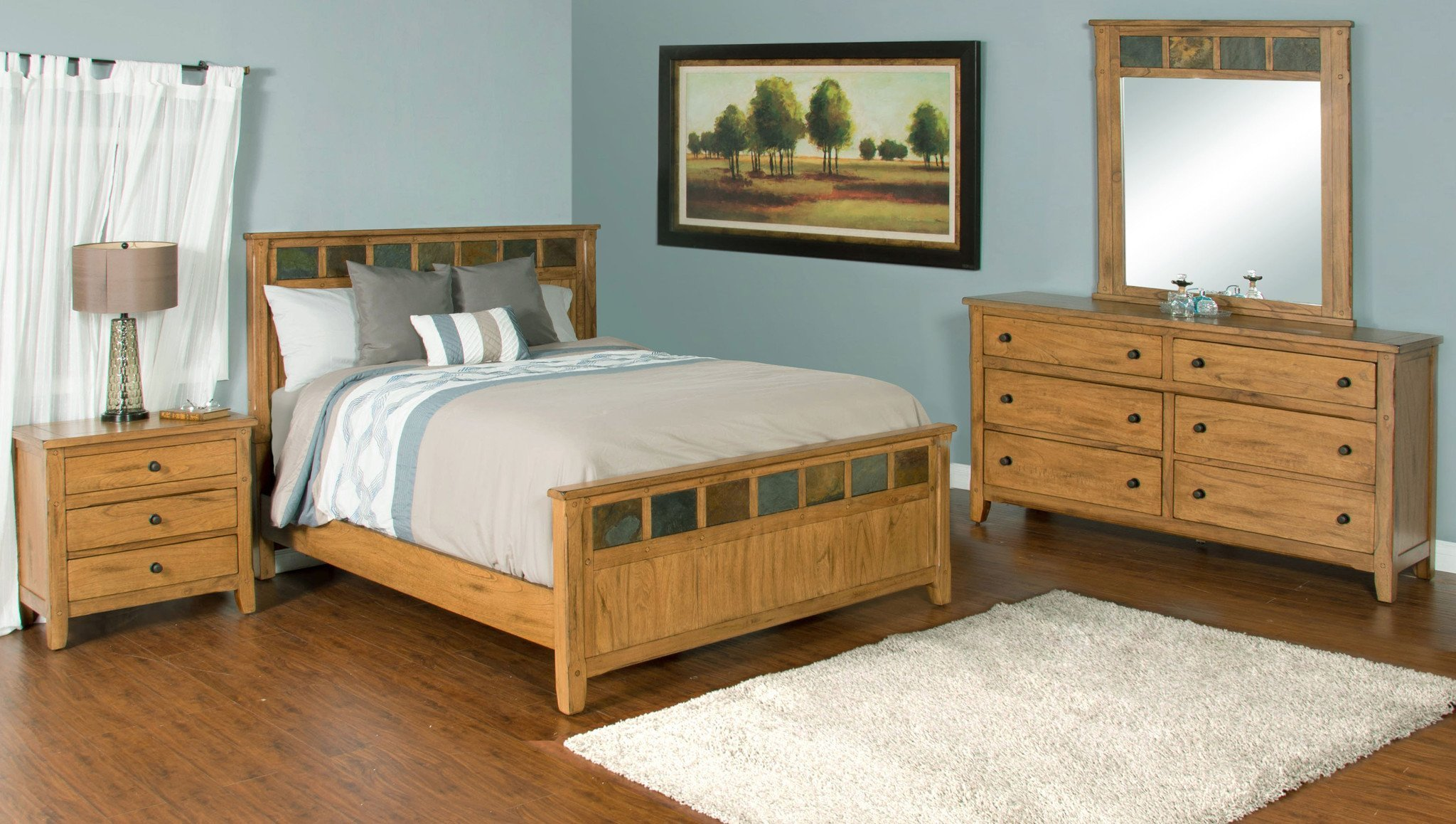 Best Sedona Rustic Petite Panel Bedroom Suite E King Size With Pictures