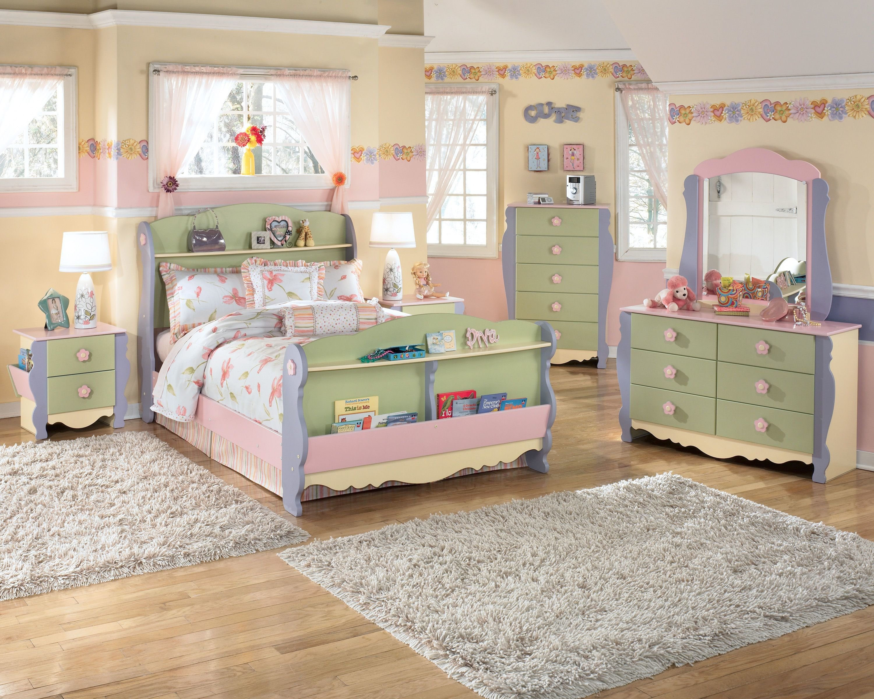 Best Doll House 4Pc Kids Bedroom Set With Twin Bed With Pictures