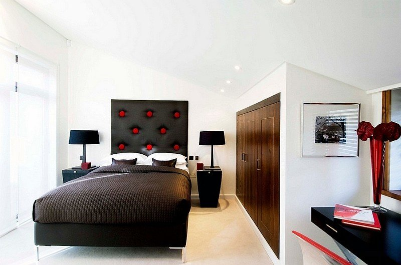 Best Red Black And White Interiors Living Rooms Kitchens With Pictures