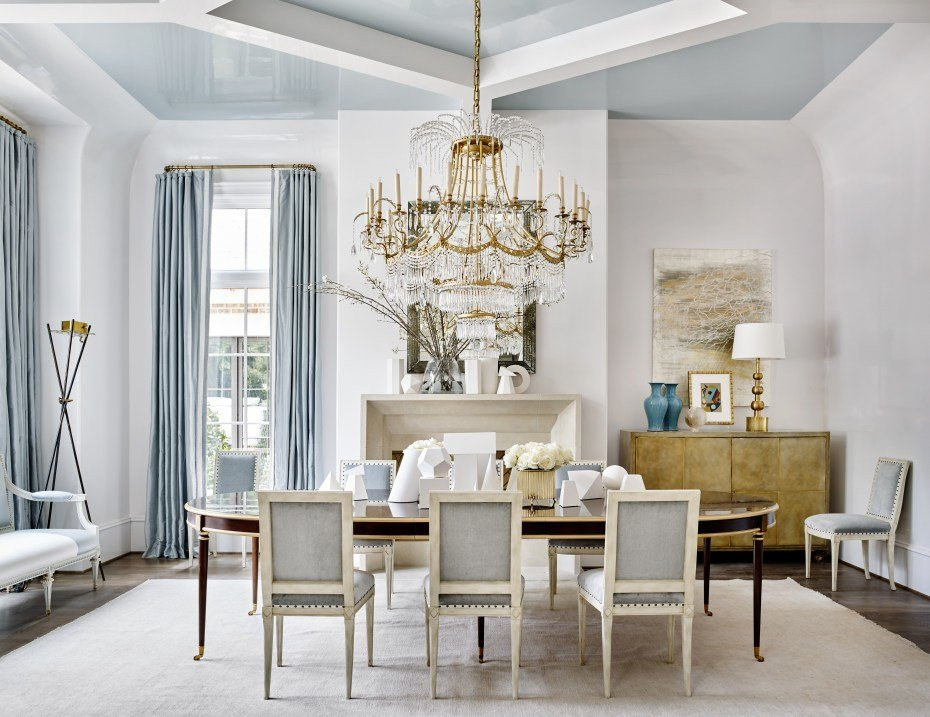 Best Southeastern Showhouse Light Blue Dining Room By Suzanne With Pictures