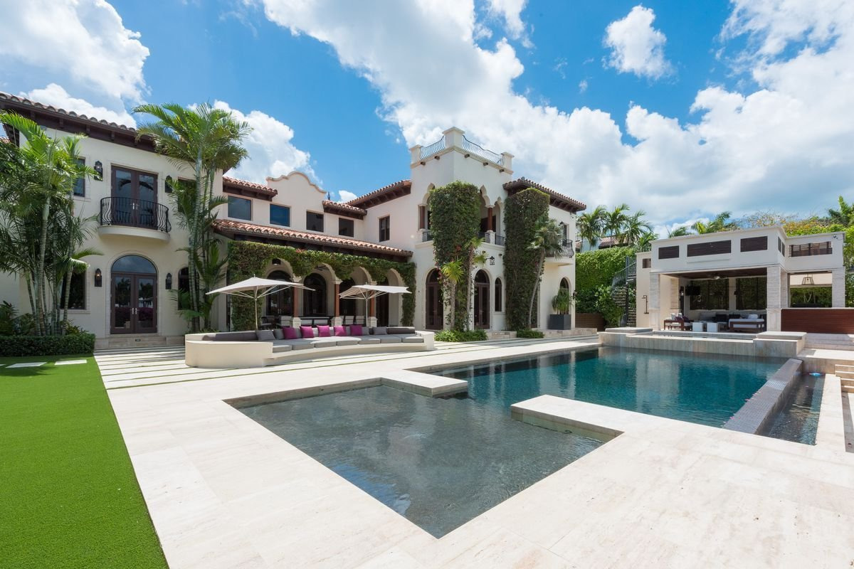 Best Miami Beach Villa Built By Former Heat Player Rony Seikaly With Pictures