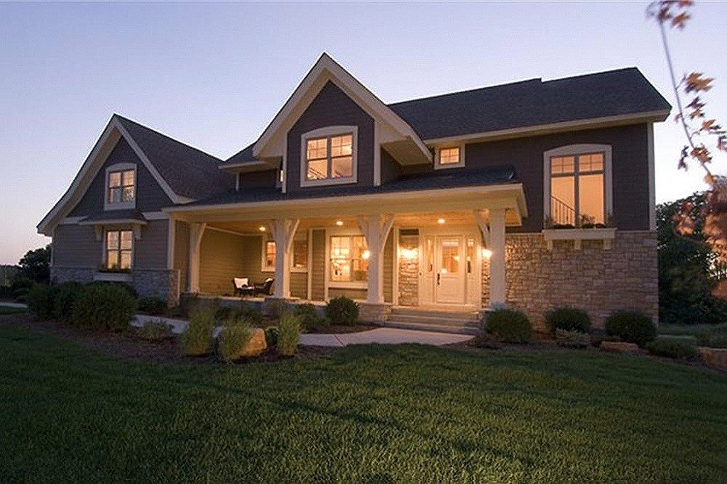 Best Craftsman Style House Plan 4 Beds 3 5 Baths 2909 Sq Ft With Pictures